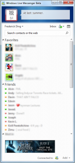 Compact view in Windows Live Messenger Wave 4