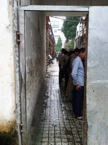 Alleyway of labourers in Wuxi