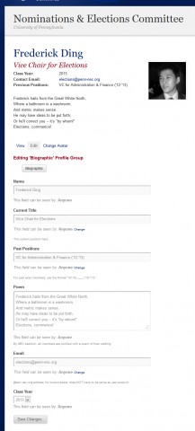 Redesign third iteration - BuddyPress profile